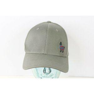 New Tentree Peru Llama Spell Out Adjustable Snapback Hat Cap Gray Cotton